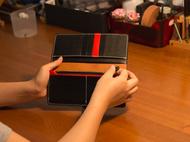 不期而遇丨手工定制  黑红长夹财布 植鞣皮 多卡位钱包
