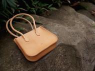 白馬手造 |手工制作皮具 mini手拿包/拎包 原色植鞣