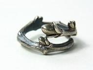 【新蕾。序】独立设计 手工纯银 氧化银做旧款 藤状树枝戒指 缠枝款