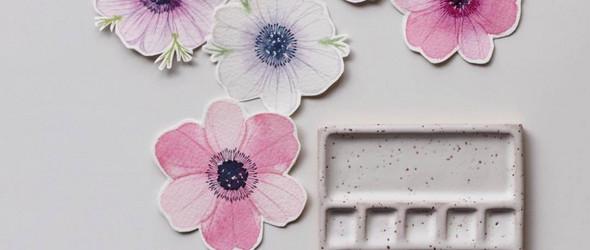 插画师 Priscilla Lee 的水彩花卉