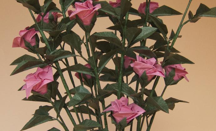鱼娘娘手工折纸花艺 蔷薇