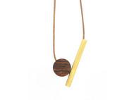 原创意黄铜木质手工文艺复古项链男挂饰女时尚情侣锁骨项链可调节
