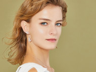 CAMBAS刊芭思 法式设计高级感耳坠女 气质长款925纯银耳饰冷淡风