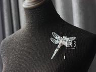 【LXB私人设计】重工钉珠蜻蜓胸针