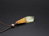 善术SANSHIO原创创意木吊坠情侣款文艺范简约极简设计小清新项链百搭毛衣链包邮