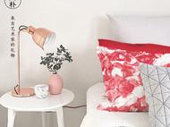 川朴艺术设计玫瑰家居抱枕