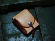 集点手作坊 手工皮具 高桥复刻 美分币意大利 原色财布钱包 腰包
