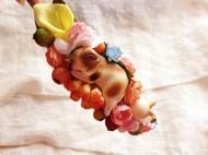 森女系 花丛里睡觉的三花小萌猫 浆果 发箍