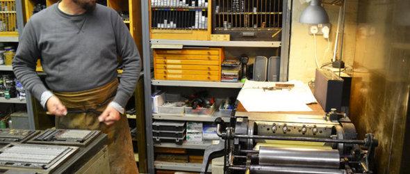 Mr Smith workshop - 伦敦活板印刷工作室