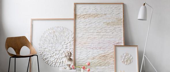纸片拼贴出的剪纸装饰艺术画 | Mondocherry