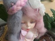 【莲田水生】卖个萌~羊毛毡胸针一枚~~粉雪酱~