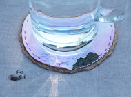手工杯垫【粉紫绣球】,看看花,喝喝茶吧~