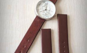 给新入的手表换个表带,真皮质感