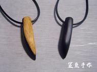 鲨鱼手作 创意紫光檀狼牙项链