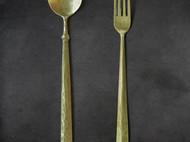 黄铜 纯手工打造 勺子 叉子