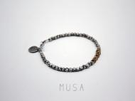 MUSA金属风手链 泰银清迈手工纯银手链