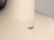 【Mint】3A级进口玛瑙925纯银锁骨链纤细项链 3颗