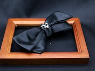 小可爱和小领带真丝双层军花铆钉领结支持定制