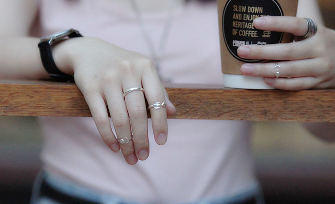 偶屿925银箭戒指