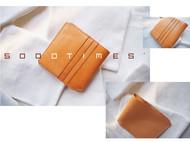 5000TIMES'手工皮具-片叶系列 钱包 卡包 意大利植鞣牛皮 原色
