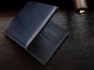 男士钱夹 意大利植鞣 深蓝色 纯手工缝制
