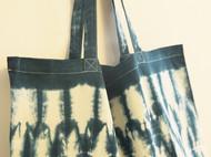 --青 山-- 纯手工 扎染 日式 环保袋 镜像