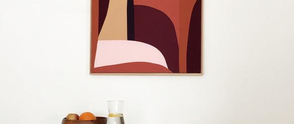 Meike Legler | 多彩的几何纺织墙画艺术