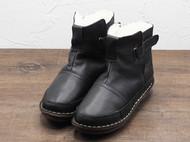 守根手工鞋 34.5-42尺码 偏小女士冬季保暖棉靴防滑黑色雪地靴