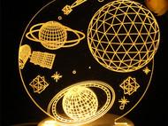 意品造物创意3D宇宙小夜灯