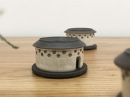 live design意物设计烟雨土楼香炉纯手工陶瓷家用室内客厅茶道创意摆件檀香盘香炉创意香薰炉