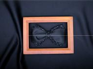 小可爱和小领带真丝波点黑色领结支持定制