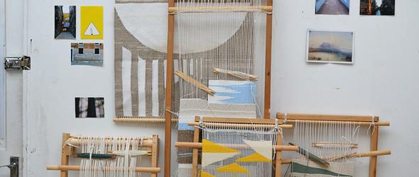 编织让人情绪放松的挂毯和地垫:探访英国纺织艺术家 Christabel Balfour工作室