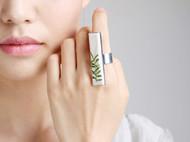 """AileenGift独立设计师品牌原创款""""叶""""极简新中式腔调时装戒指"""
