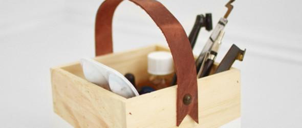 DIY改造教程,手工制作皮革提手的木盒教程(皮革手提盒)