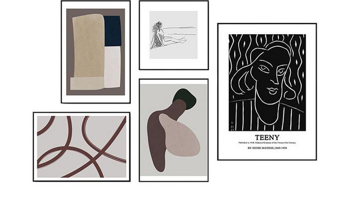 现代简约抽象风家居装饰画/挂画