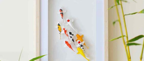 中国鱼文化纸雕装饰画 | Richard Wong