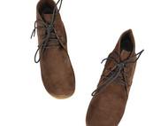 hanalice mori系列 纯手工牛反绒绑带短靴