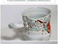 釉上手绘 全手工陶艺杯随手杯咖啡杯 石榴杯