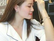 M.Q奎妮小姐 精致925纯银圈圈天然珍珠耳钉