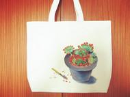 手绘环保袋 多肉植物