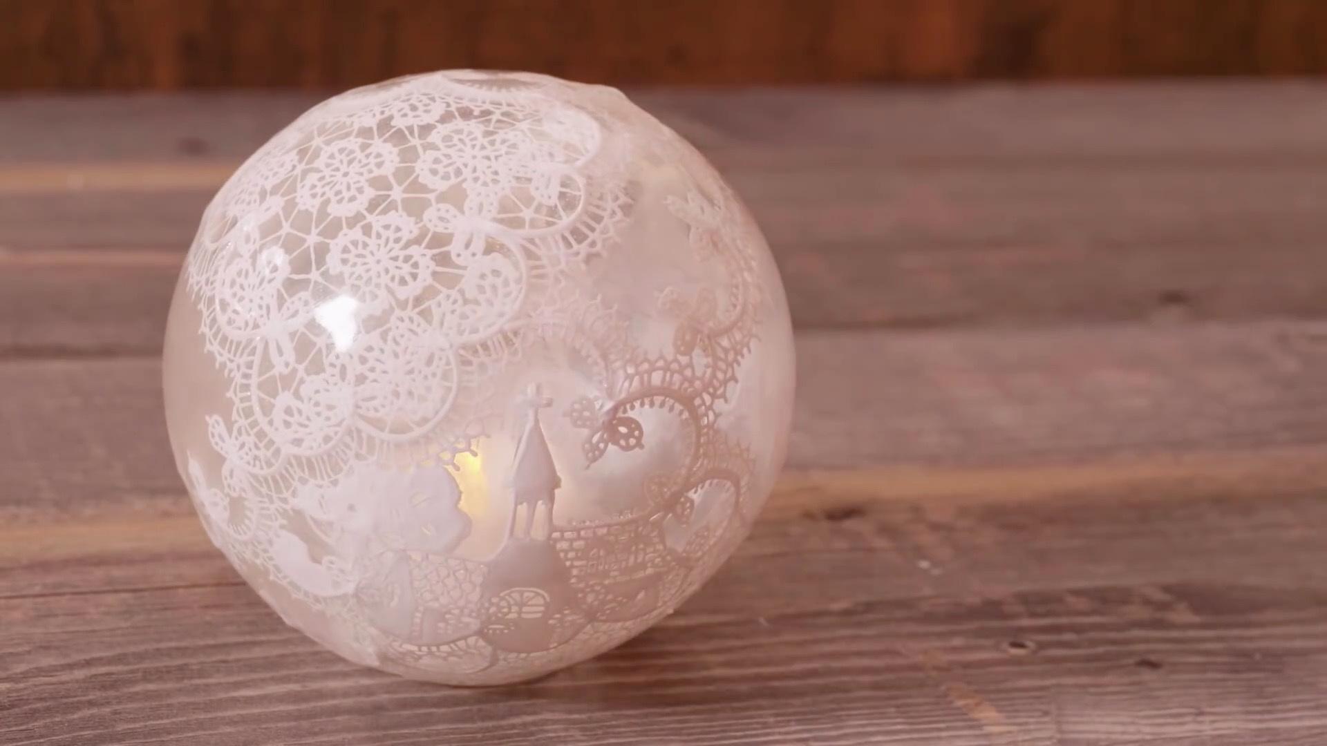 DIY半透明树脂粘土台灯