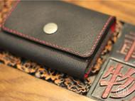 厚德载物!红与黑手工真皮卡包!还记得那个卡包教程吗?