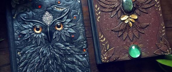 Aniko Kolesnikova和她的手工立体魔法书皮