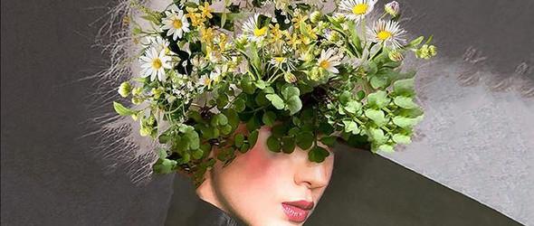 Maja Egli | 自然而优雅的花卉与图片拼贴画