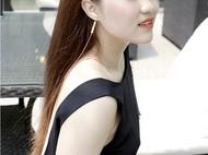 M.Q奎妮小姐 天然珍珠长耳线/耳坠(单只)