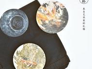 川朴原创艺术设计花港观鱼系列杯垫