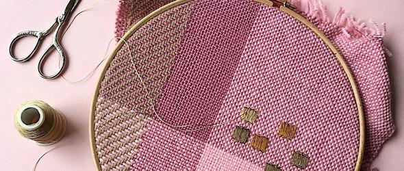 她将刺绣融入到纺织之中,创造色彩与几何和谐的墙饰 | Hazel Muir