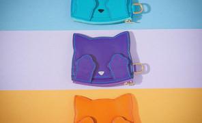 小猫零钱袋 材料:山羊皮+纯铜