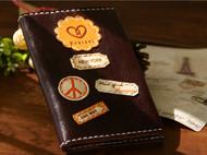 旅行款 牛皮钱夹/护照夹