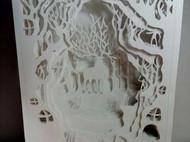 光影纸雕画